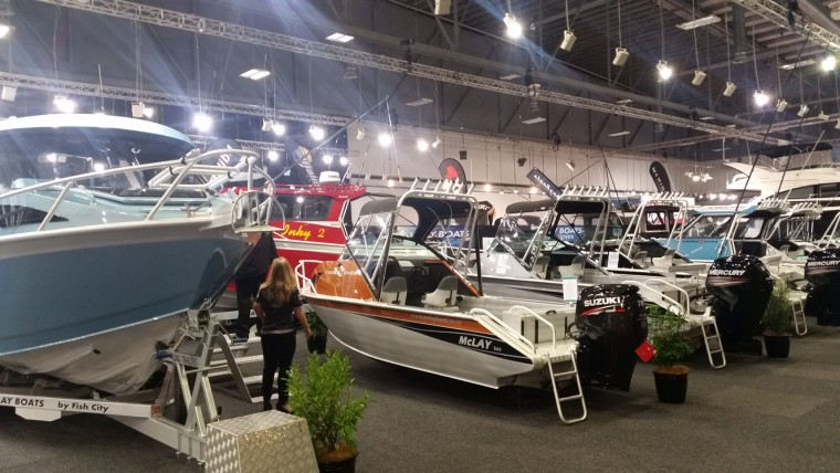 All hands on deck after a very successful 2015 Hutchwilco Auckland Boat Show for McLay Boats